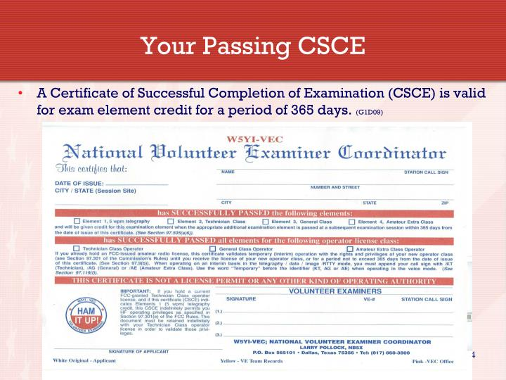 Your Passing CSCE