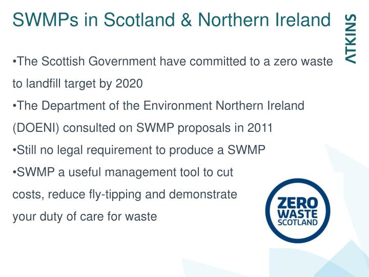 SWMPs in Scotland & Northern Ireland