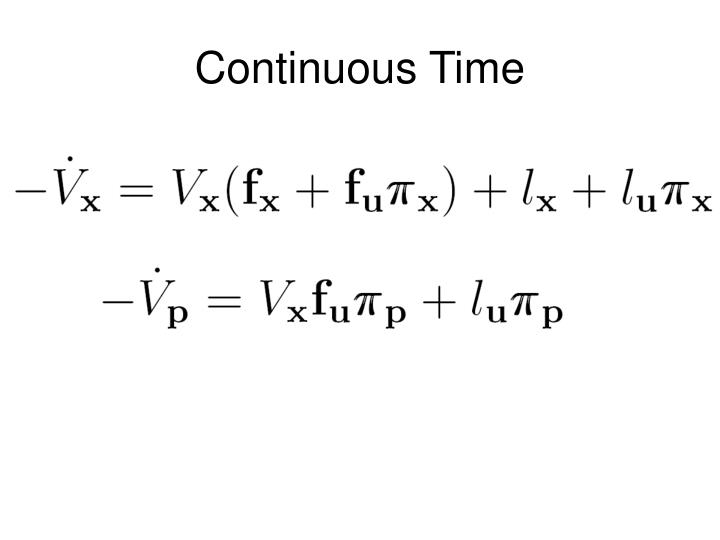 Continuous Time
