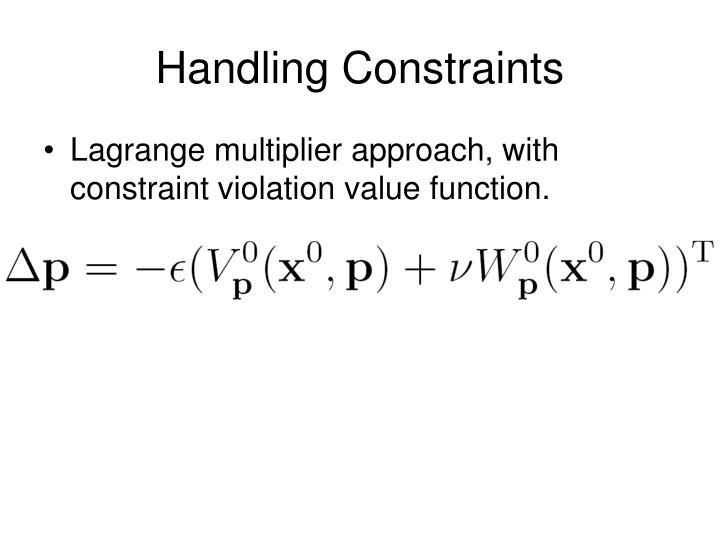 Handling Constraints