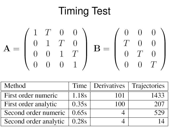 Timing Test