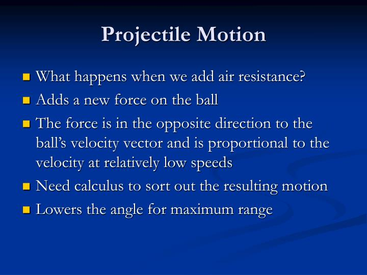 What happens when we add air resistance?