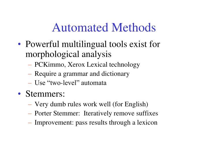 Automated Methods