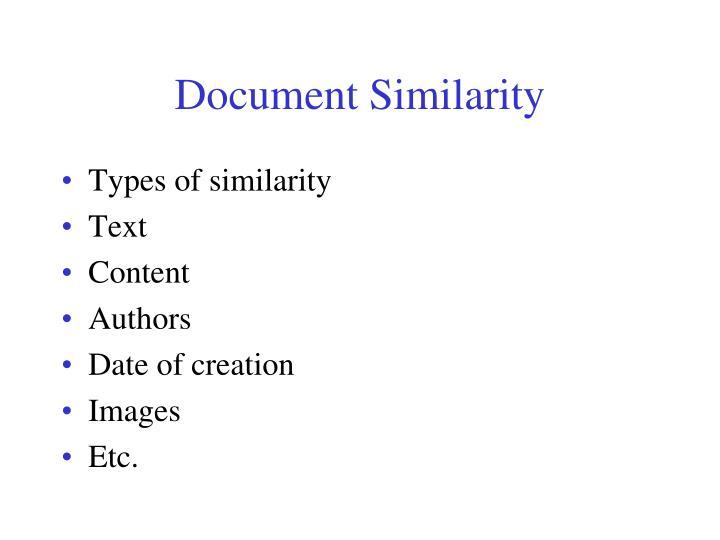 Document Similarity
