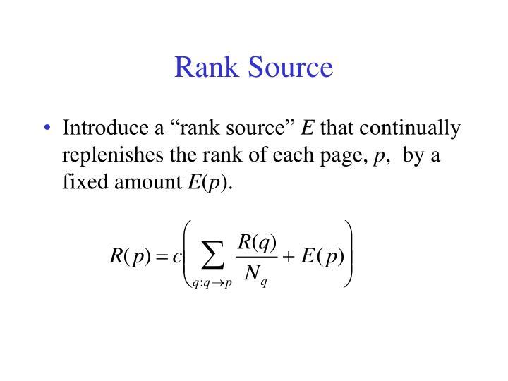 Rank Source