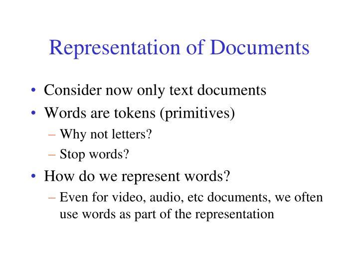Representation of Documents