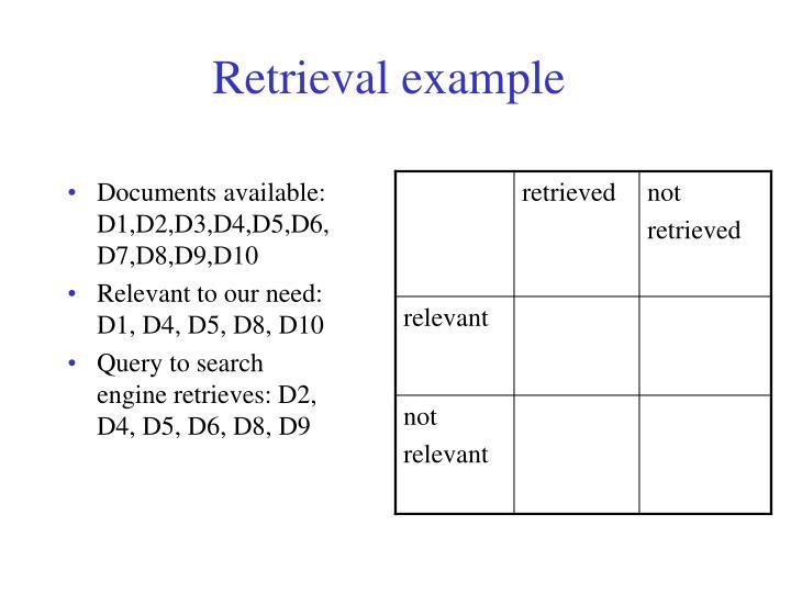 Retrieval example