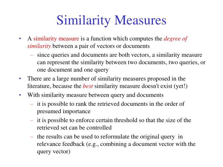 Similarity Measures