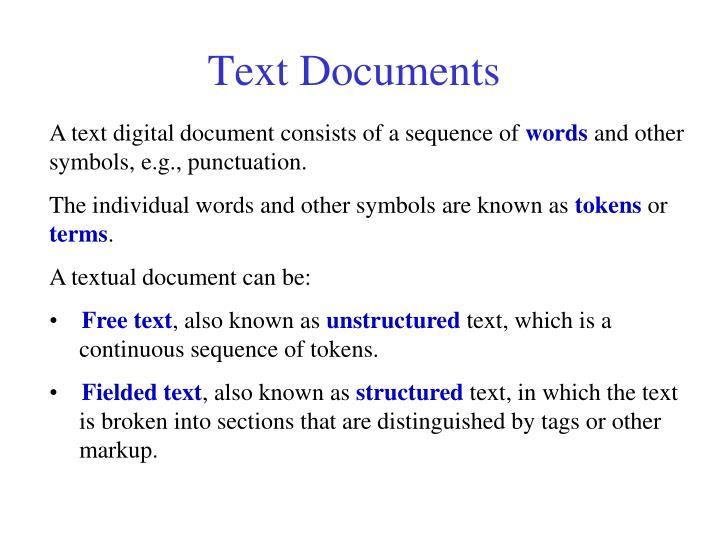 Text Documents