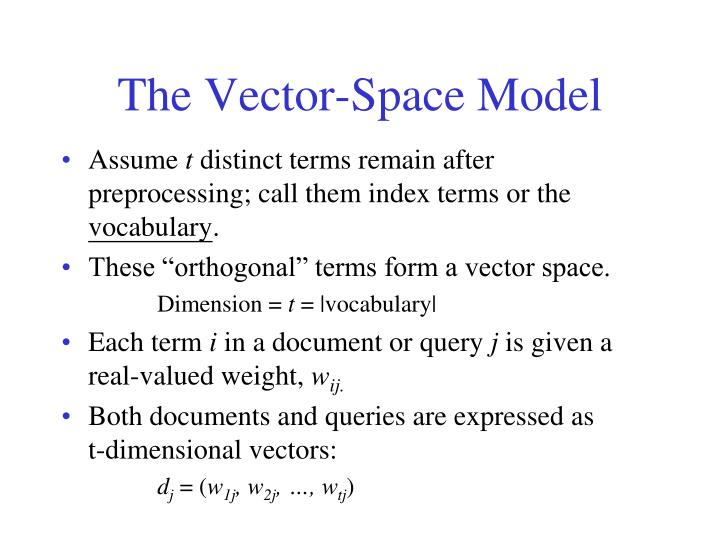 The Vector-Space Model
