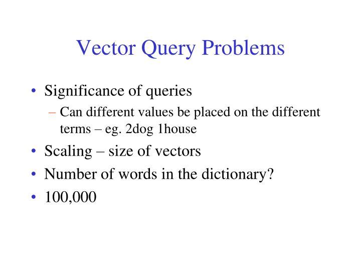 Vector Query Problems