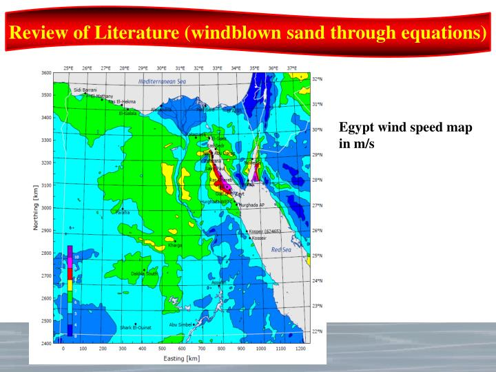 Review of Literature (windblown sand through equations)