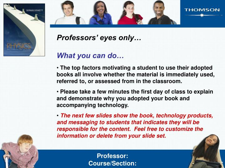Professors' eyes only…