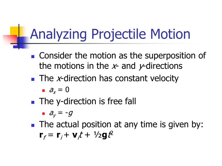 Analyzing Projectile Motion
