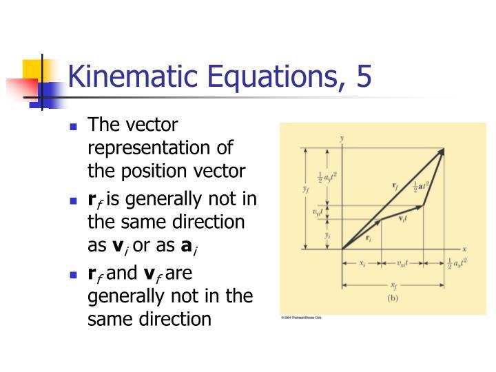 Kinematic Equations, 5