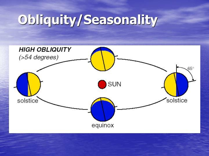 Obliquity/Seasonality