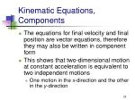kinematic equations components