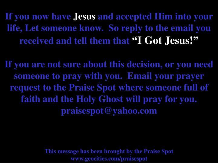For Prayer