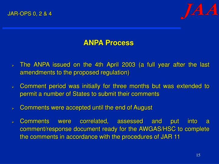 ANPA Process