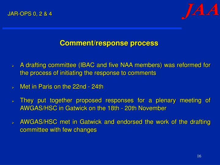 Comment/response process