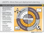 l edps more than just deployment planning
