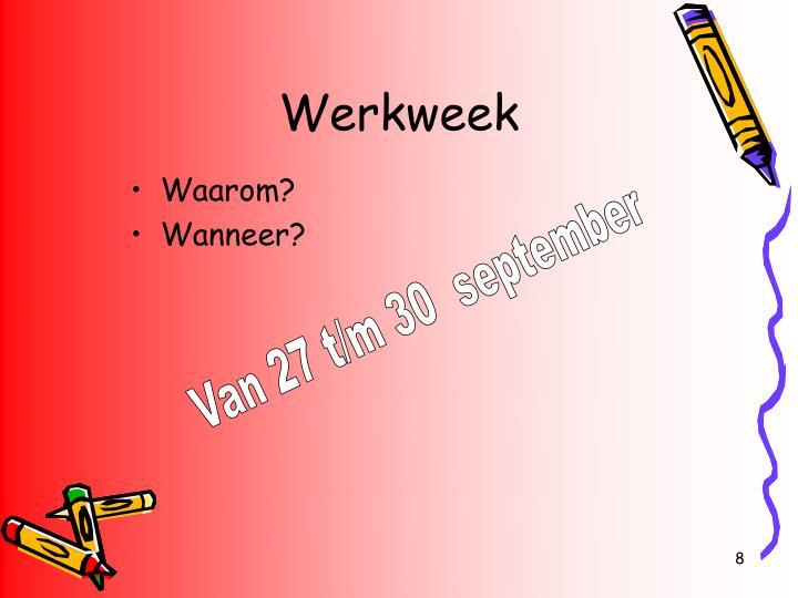 Werkweek