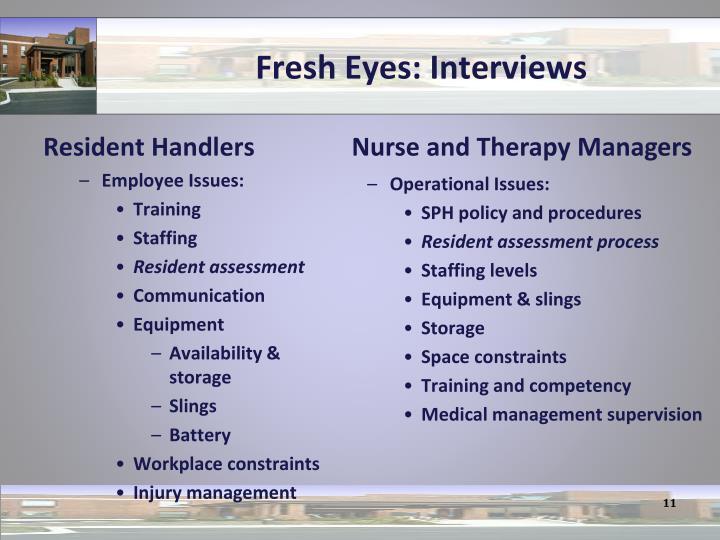 Fresh Eyes: Interviews
