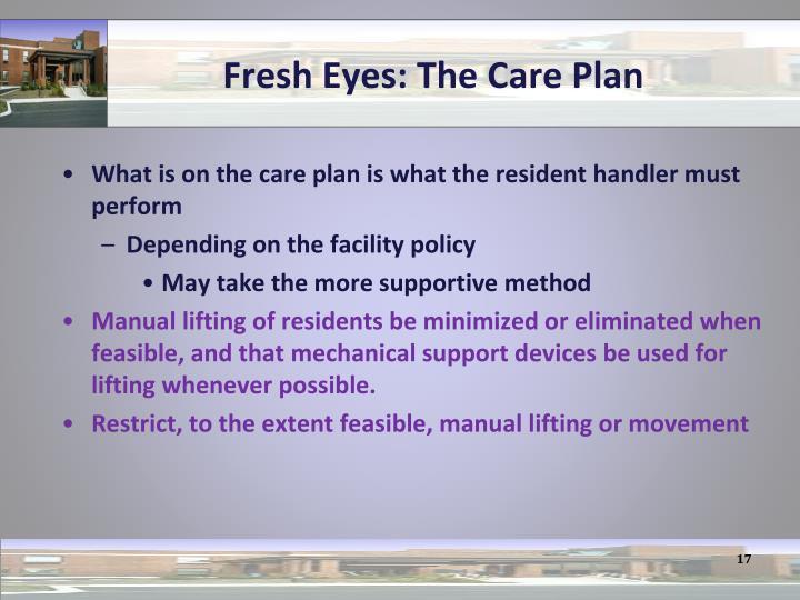 Fresh Eyes: The Care Plan