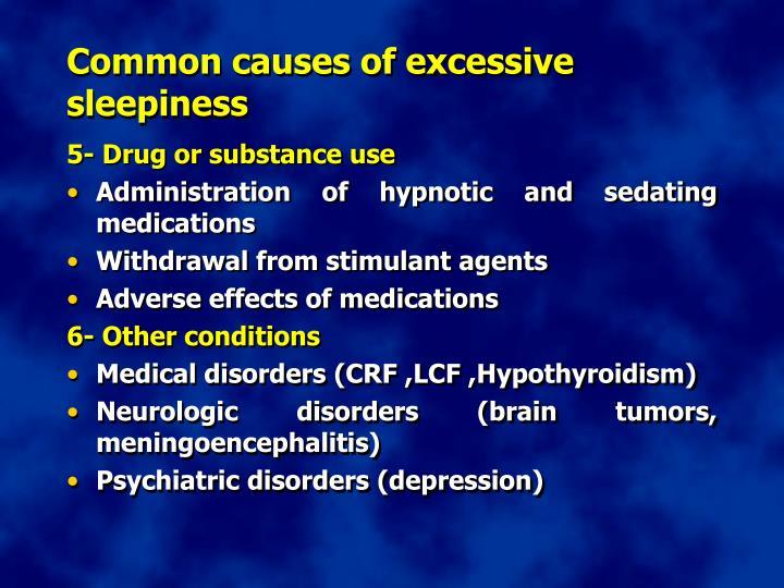 Common causes of excessive sleepiness