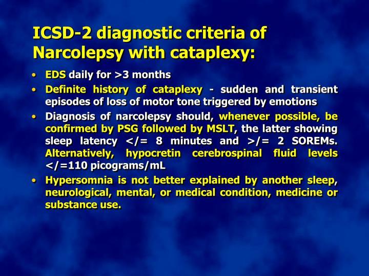 ICSD-2 diagnostic criteria of