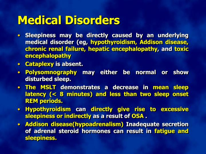 Medical Disorders