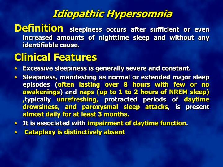 Idiopathic