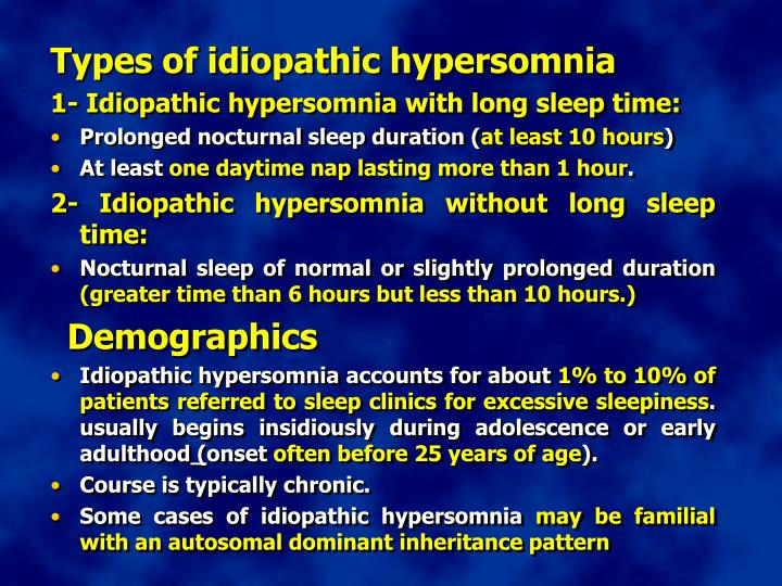 Types of idiopathic