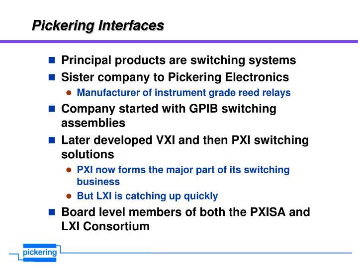 Pickering interfaces