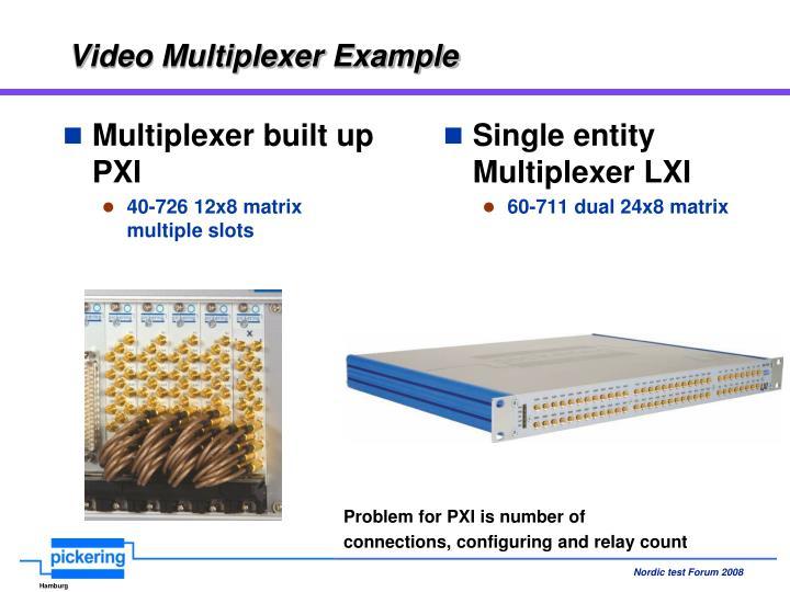 Video Multiplexer Example