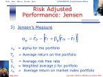 risk adjusted performance jensen