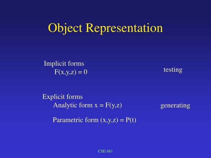 Object representation