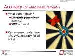 accuracy of what measurement