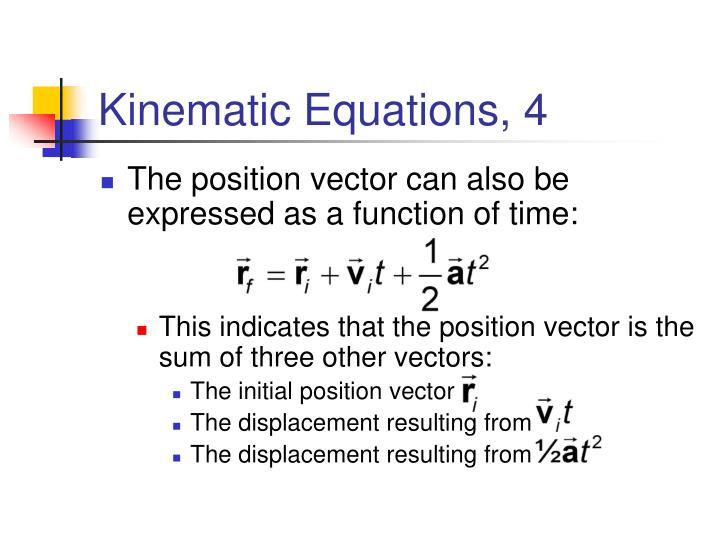 Kinematic Equations, 4