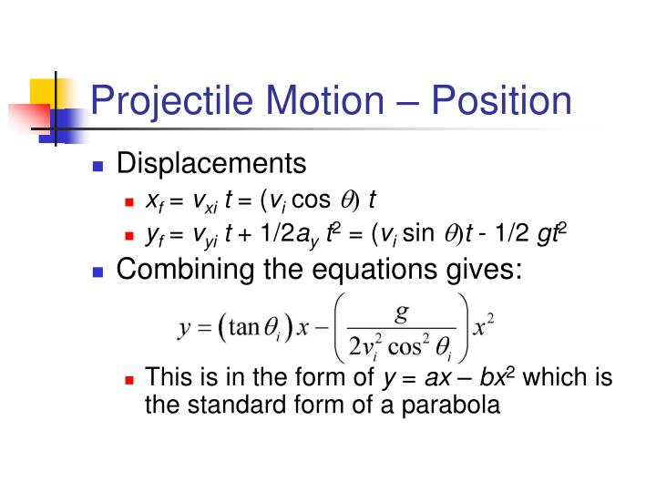 Projectile Motion – Position