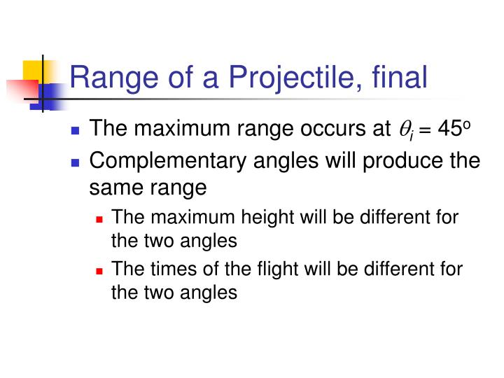 Range of a Projectile, final