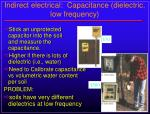indirect electrical capacitance dielectric low frequency