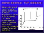 indirect electrical tdr dielectric