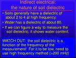 indirect electrical the nature of soil dielectric