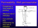 permeability well permeameter