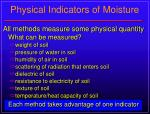physical indicators of moisture