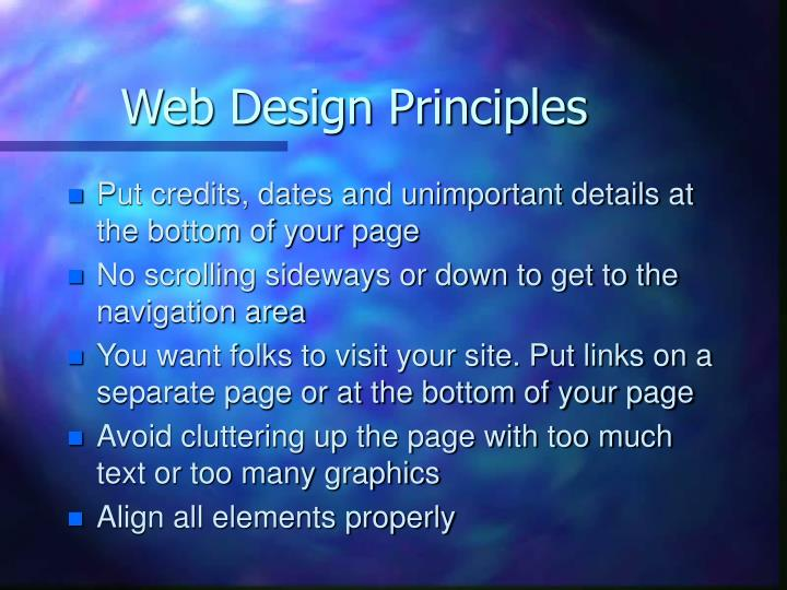 Web design principles2