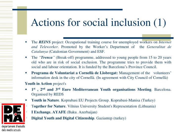 Actions for social inclusion (1)