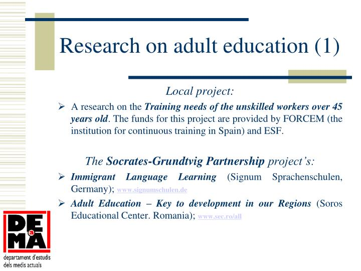 Research on adult education (1)