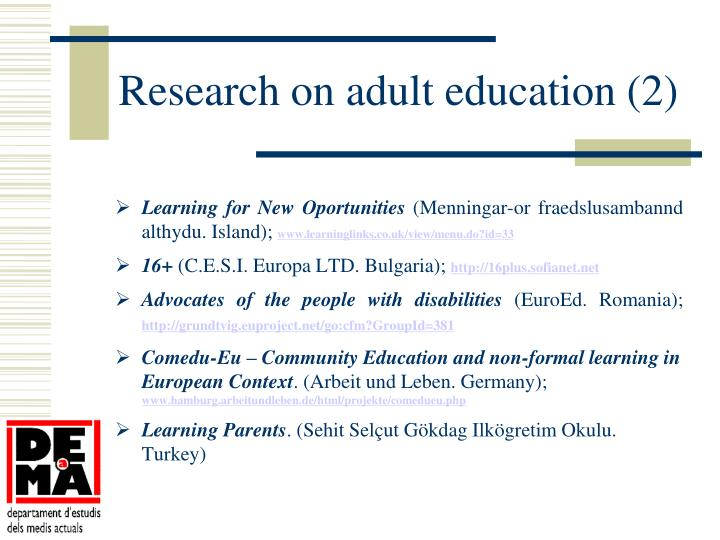 Research on adult education (2)